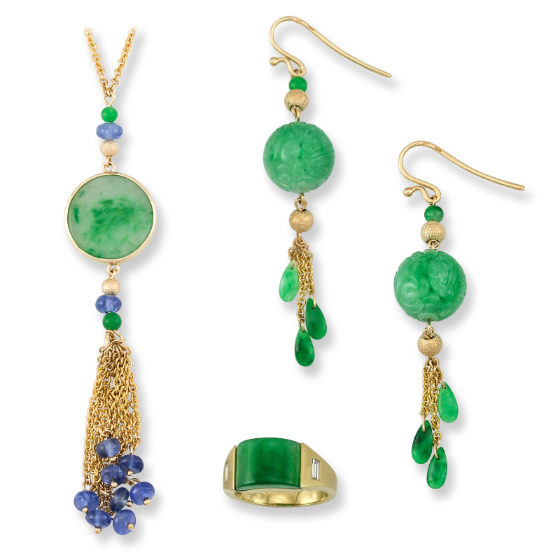 Natural Green Jadeite Jade Jewelry