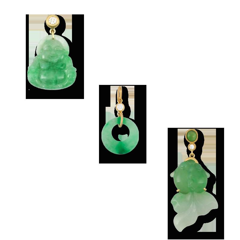 Natural Green Jade Pendants