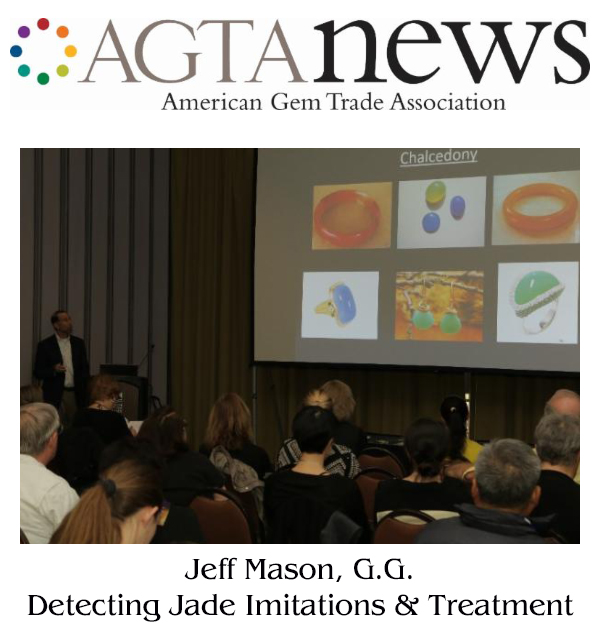 Jeff Mason, Featured Speaker at AGTA 2017 Gemfair Educational Seminar Series